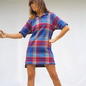 VINTAGE 80's POLO RALPH LAUREN PLAID SHIRT / DRESS